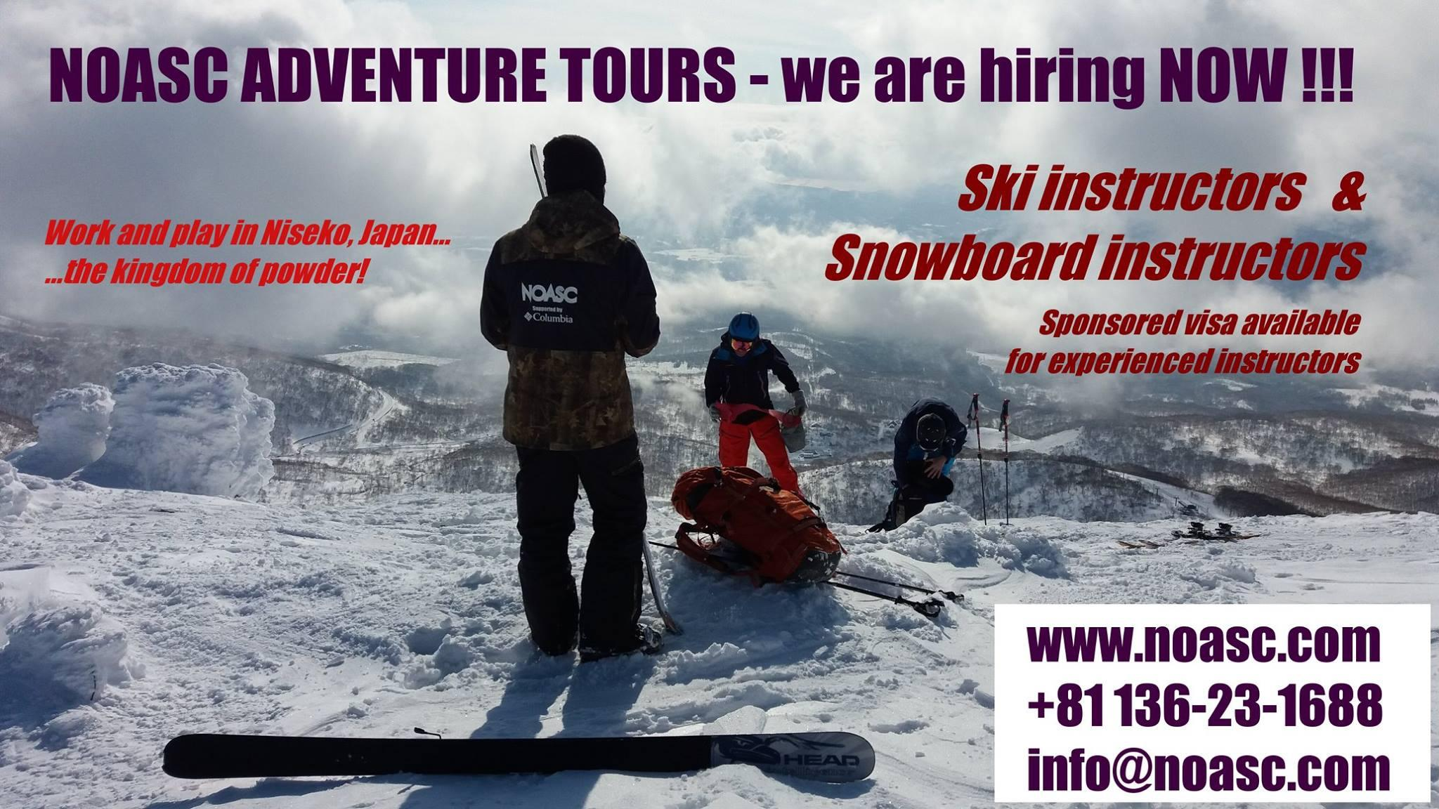 ... And Submit Your Online Application At  Http://noasc.com/en/otheractivitiestours/other/noasc Employment/item/412 Winter  Ski Snowboarding Instructor Jobs